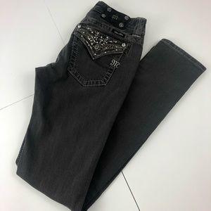 Miss Me Black Embellished Skinny Jeans